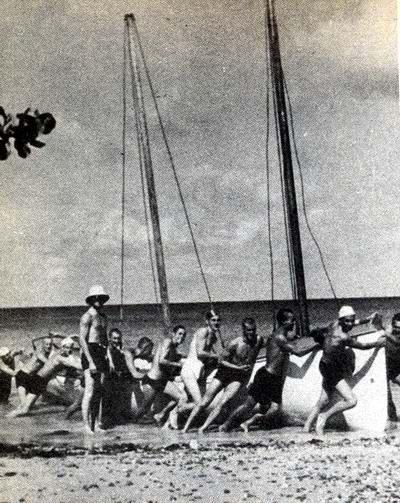Ćwiczenia szalupowe na brzegu